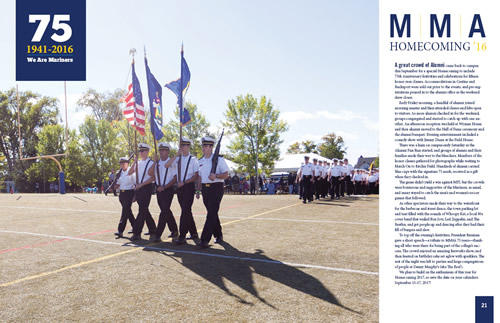 75th homecoming in Mariner Magazine