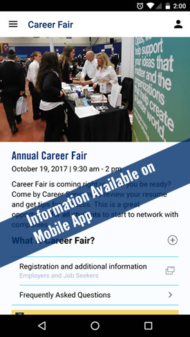 Career Fair in Mobile App