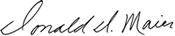 Donald Maier Signature