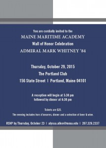 Wall of Honor Dinner @ The Portland Club | Portland | Maine | United States