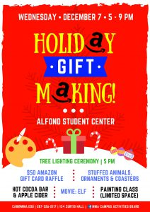 Holiday Gift Making and Tree Lighting Ceremony @ Alfond Student Center