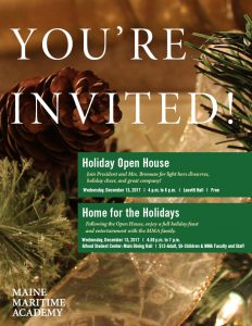 Home for the Holidays @ Alfond Student Center: Dining Hall