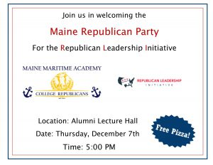 Republican Leadership Initiative @ Alumni Lecture Hall | Castine | Maine | United States