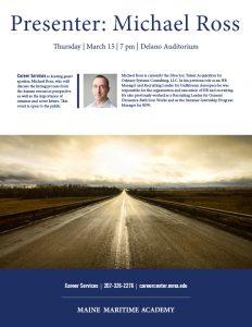 Presenter Mike Ross @ Delano Auditorium, Leavitt Hall