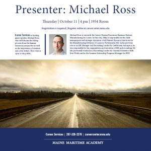 Presenter Mike Ross @ 1954 Room