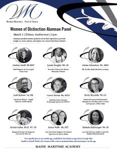 Women of Distinction Alumnae Panel @ Maine Maritime Academy, Delano Auditorium | Castine | Maine | United States