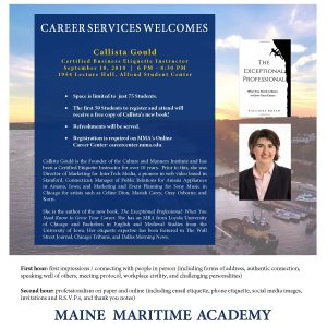 Career Services hosts Callista Gould @ 1954 Room