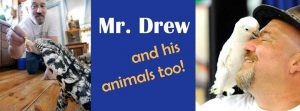 Finals Week: Mr. Drew and His Animals Too! @ The Library