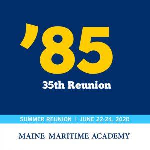 Class of 1985 celebrates their 35th reunion @ Maine Maritime Academy