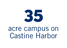 35 acre campus on Castine Harbor