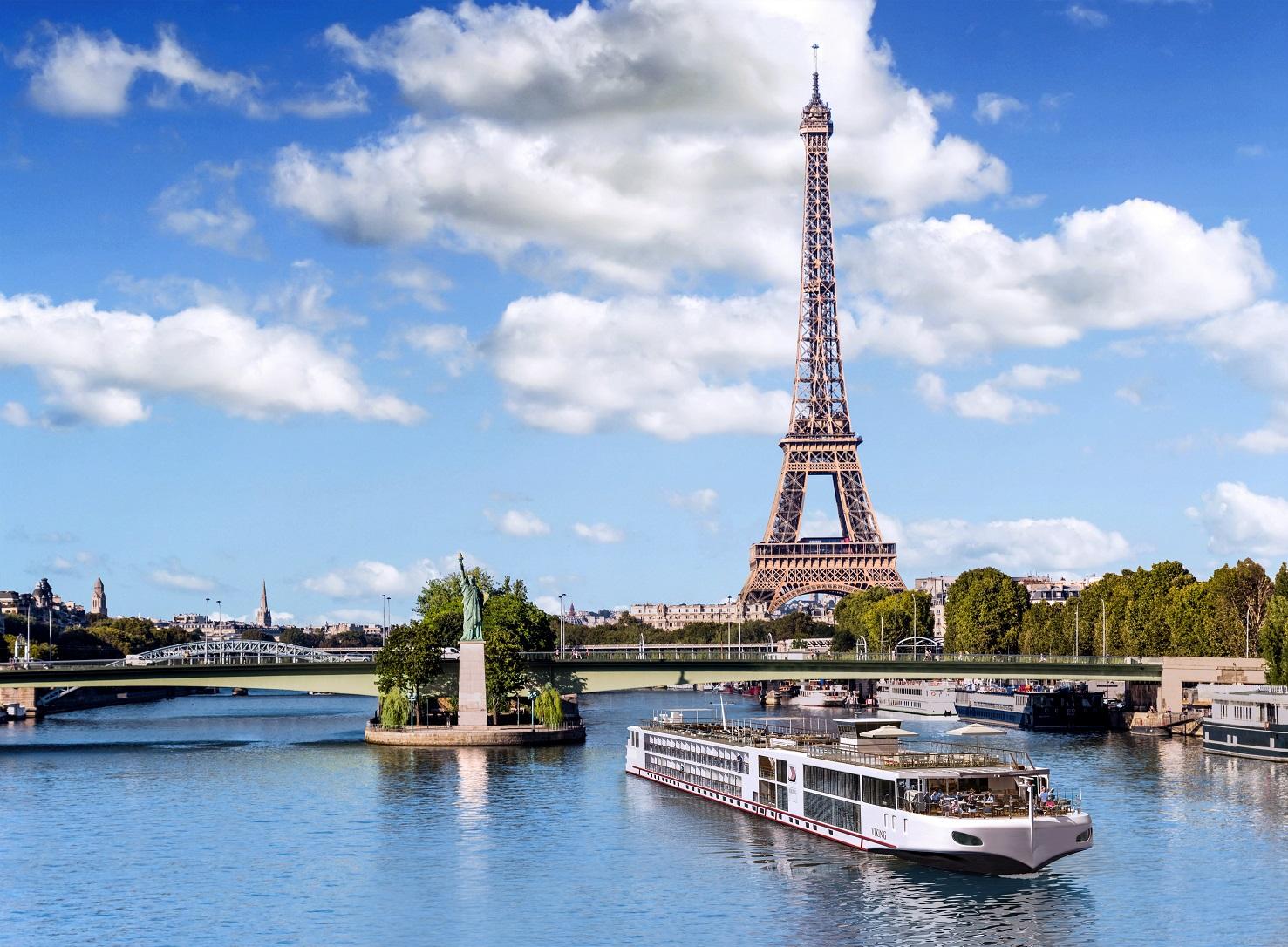 Viking cruise ship in Paris