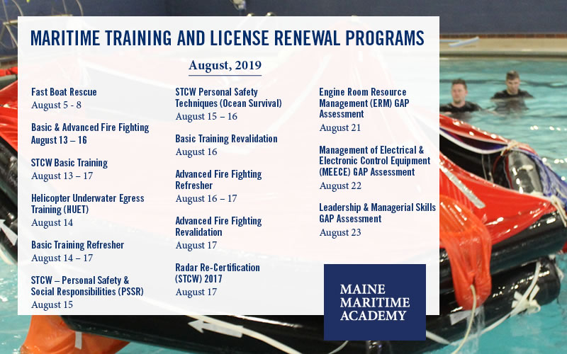 August Continuing Education Class Offerings