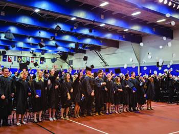 MMA Graduation Hat Toss