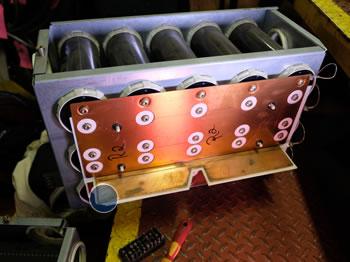 Broken capacitor