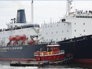 TSSOM leaving dock