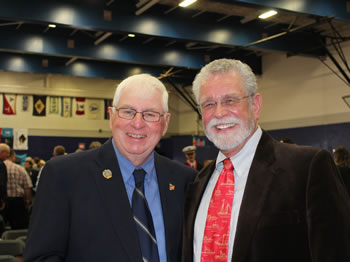 Capt. David Sulin with Perry Mattson '64
