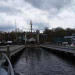 Haul out at Front Street Shipyard for brief yard period, May 2018