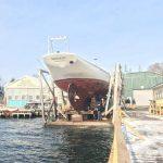 Bowdoin at boatyard